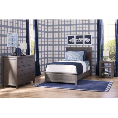 Farmhouse Twin Panel 3-Piece Bedroom Set Finish: Gray