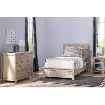 Farmhouse Twin Panel 3-Piece Bedroom Set Finish: White Wash