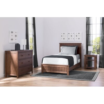 Farmhouse Twin Panel 3-Piece Bedroom Set Finish: Oak