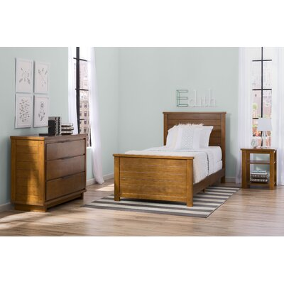 Meadowbrook Twin Panel 3-Piece Bedroom Set Finish: Weathered Chestnut