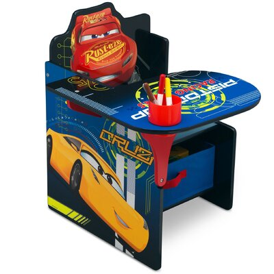 Disney/Pixar Cars Kids Chair Desk with Storage Compartment TC83546CR_1014