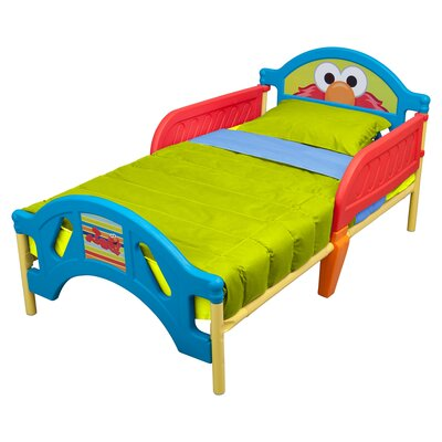 Sesame Street Plastic Convertible Toddler Bed