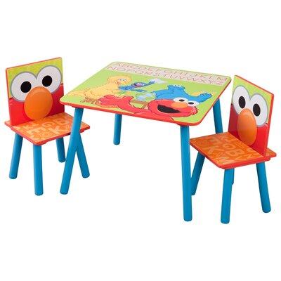 Delta Children Sesame Street Kids' 3 Piece Table & Chair Set TT89332SS