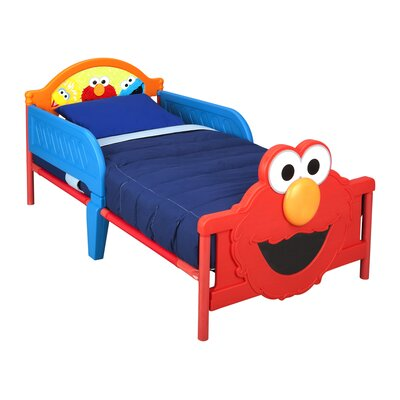 Sesame Street 3D Convertible Toddler Bed