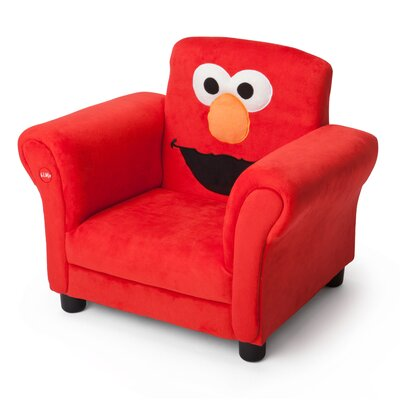 Delta Children Sesame Street Elmo Giggle Upholstered Chair with Sound TC83929SS