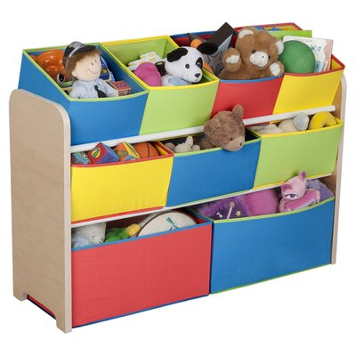 Delta Children Multi-Color Deluxe Toy Organizer with Bins TB84752GN