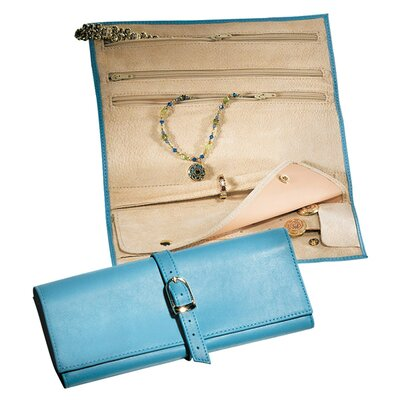 Jewelry Pouch Leather: Florentine Napa, Color: Ocean