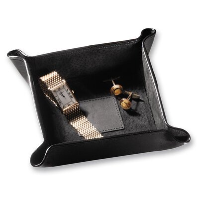 Stash Accessory Tray Leather: Cowhide, Color: Black