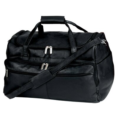"Vaqueta Napa 19.5"" Leather Duffel Color: Black"