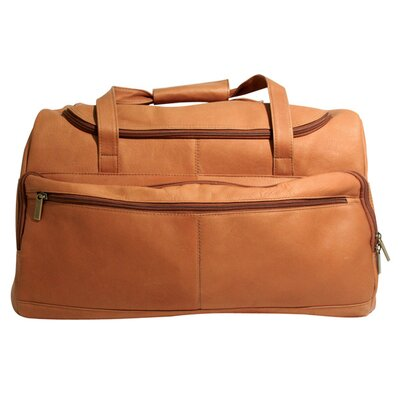 "Vaqueta Napa 19.5"" Leather Duffel Color: Tan"