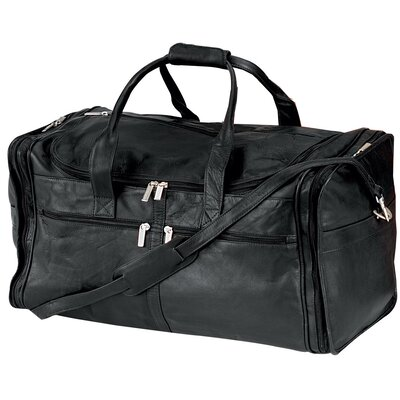 "22"" Vaqueta Napa Leather Large Duffel Color: Black"