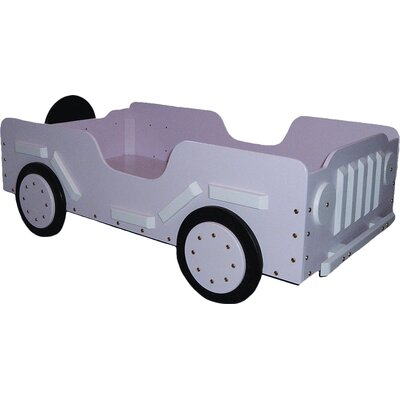 Military Toddler Car Bed Color: Pink