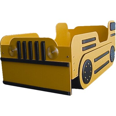 Bulldozer Toddler Car Bed Color: Yellow