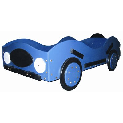 New Style- Race Car Toddler Bed Color: Orange