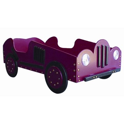 Old Style- Race Toddler Car Bed Color: Dark Blue