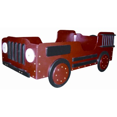 Just Kids Stuff Fire Truck Wood Toddler Bed at Sears.com