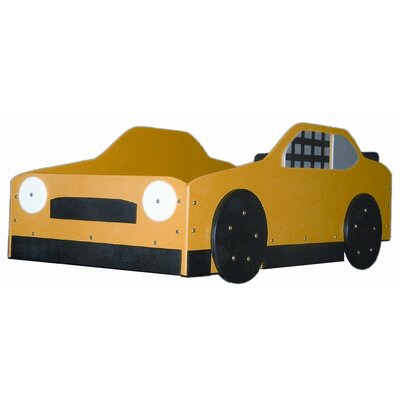 Stock Toddler Car Bed Color: Yellow