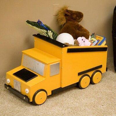 Just Kids Stuff Dump Truck Toy Box - Color: Yellow