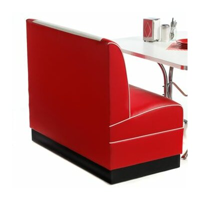 Retro Upholstered Storage Bench Color: Baron Scarlet