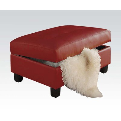 Kiva Storage Ottoman Upholstery Color: Red