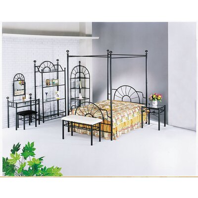 Sunburst Queen Open-Frame Headboard and Footboard and Canopy