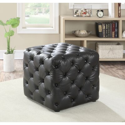 Norris Cube Ottoman Upholstery Color: Espresso