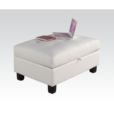Kiva Storage Ottoman Upholstery Color: White
