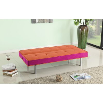 Hailey Sofa Upholstery Color: Orange / Magenta