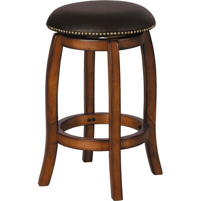 Chelsea 29 inch Swivel Bar Stool with Cushion Finish: Oak