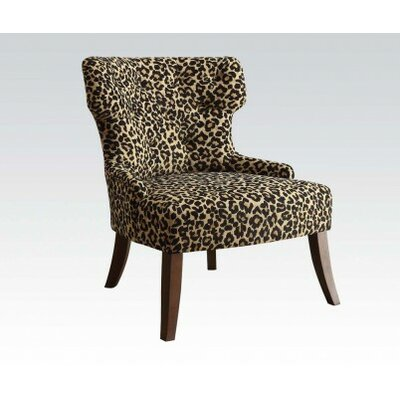 Claribel Leopard Fabric Side Chair