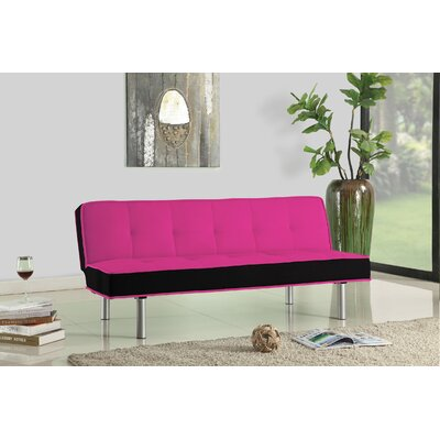 Hailey Convertible Sofa Upholstery: Magenta / Black