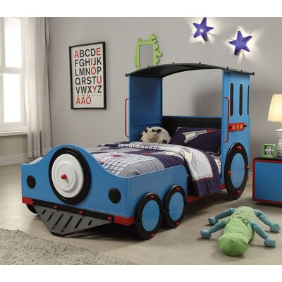 Tobi Twin Car Bed Finish: Blue