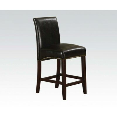 Jakki Bar Stool Upholstery Color: Black