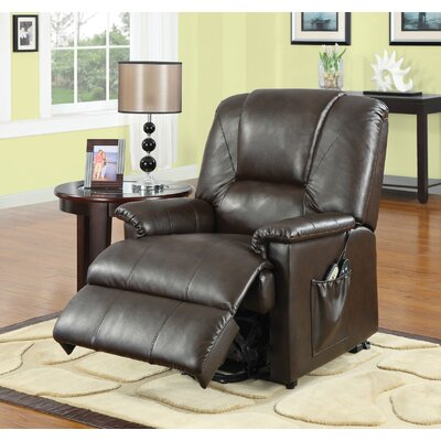Reseda Reclining Massage Chair Color: Brown