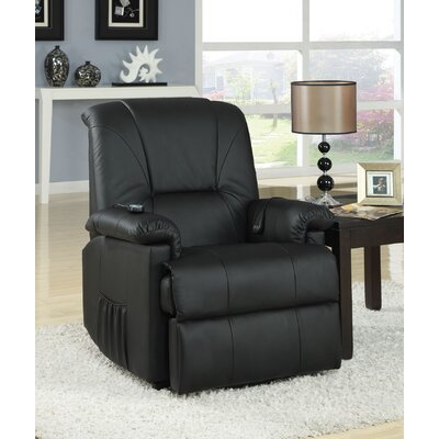 Reseda Reclining Massage Chair Color: Black