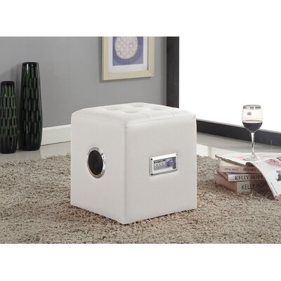 Laila Sound Lounge Ottoman Upholstery Color: White