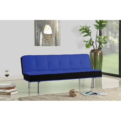 Hailey Convertible Sofa Upholstery: Blue / Black