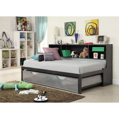 Renell Panel Bed with Bookcase and Trundle