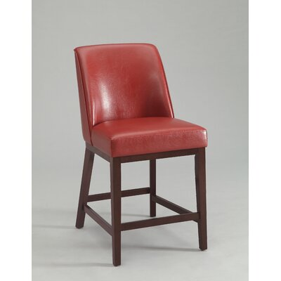 Valor Bar Stool Upholstery Color: Red