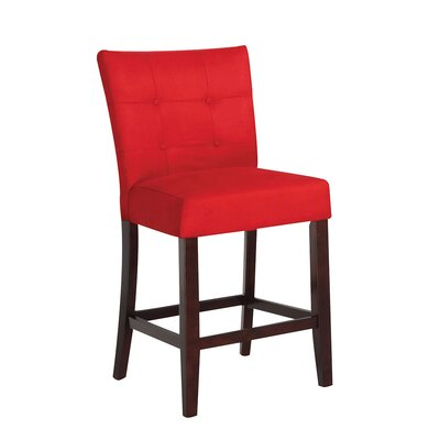 Baldwin Bar Stool Upholstery Color: Red