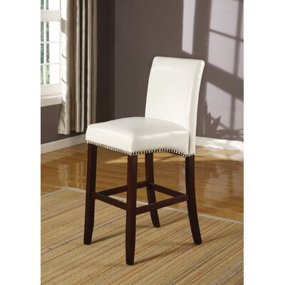 Jakki Bar Stool Upholstery Color: White