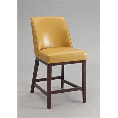 Valor Bar Stool Upholstery Color: Yellow