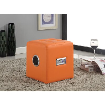 Laila Sound Lounge Ottoman Upholstery Color: Orange