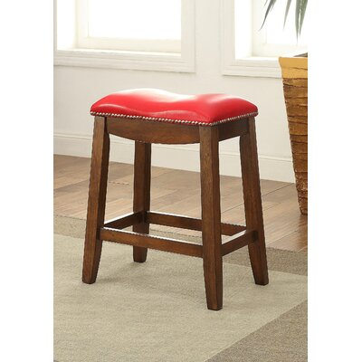 Delta 24 Bar Stool Upholstery Color: Red