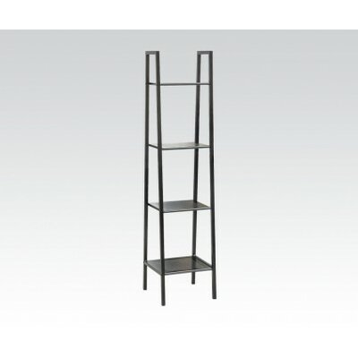 Eason 58 Leaning Bookcase Size: 58 H x 14 W x 14 D