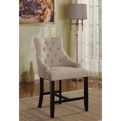 Drogo Bar Stool Upholstery Color: Cream