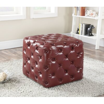 Norris Ottoman Upholstery Color: Burgundy