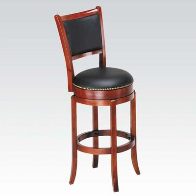 Chelsea Swivel Bar Stool with Cushion Finish: Oak