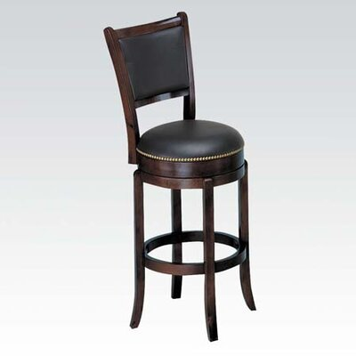 Chelsea Swivel Bar Stool Finish: Espresso