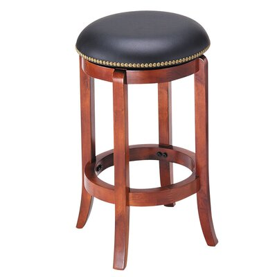 Chelsea 24 Swivel Bar Stool Finish: Oak